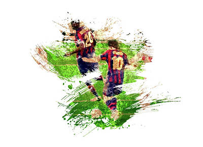 Sports Royalty-Free and Rights-Managed Images - Lionel Messi by All Sport Art