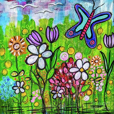 Mixed Media - Lisas Garden - Lisas Garten by Mimulux patricia No