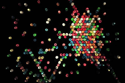 Curated Round Beach Towels - Lite Brite by Scott Norris