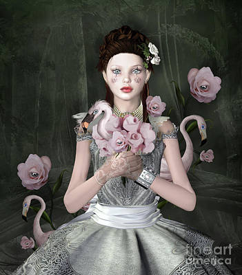 Surrealism Royalty Free Images - Little girl goes surreal Royalty-Free Image by EllerslieArt