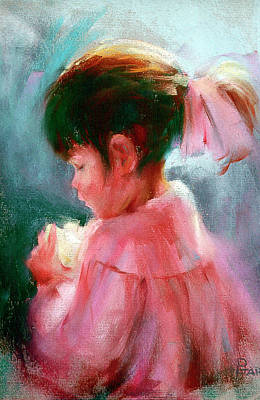 Painting - Little Lady in Pink by David Garrison