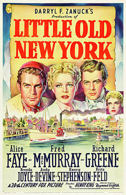 Royalty-Free and Rights-Managed Images - Little Old New York - 1940 by Stars on Art