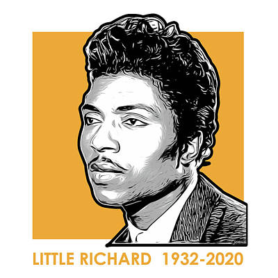 Drawings Royalty Free Images - Little Richard Tribute Royalty-Free Image by Greg Joens