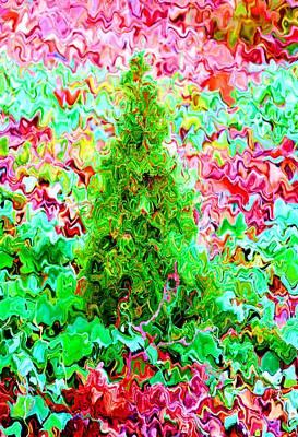 Mixed Media Royalty Free Images - Little spruce Royalty-Free Image by Lenka Rottova