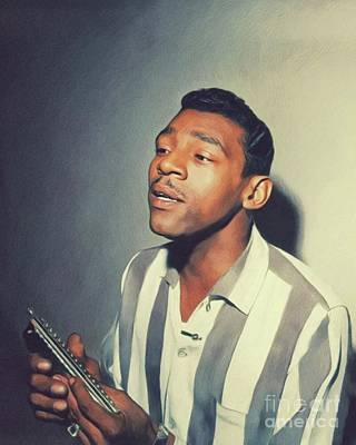 Painting Royalty Free Images - Little Walter, Music Legend Royalty-Free Image by John Springfield