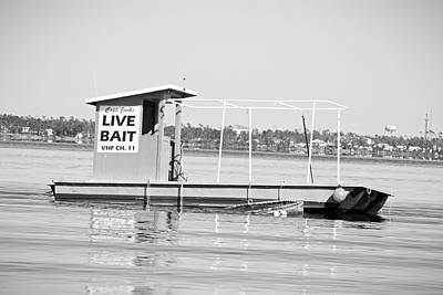 Classic Christmas Movies Royalty Free Images - Live Bait Boat in BW Royalty-Free Image by Selena Lorraine