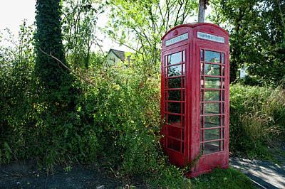 Photograph - Liverton Red Telephone Box Dartmoor by Helen Northcott