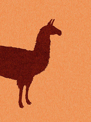 Royalty-Free and Rights-Managed Images - Llama Silhouette - Scandinavian Nursery Decor - Animal Friends - For Kids Room - Minimal by Studio Grafiikka