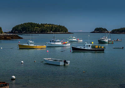 Photograph - Lobster Boats at Rest by Scott Thomas Images