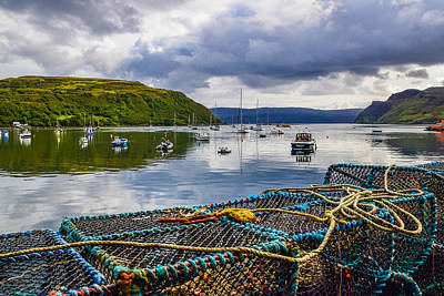 Photograph - Lobster Pots in Portree by Bonny Puckett