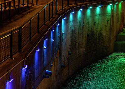 Photograph - Lock 4 at Night IV  by Tim Fitzwater