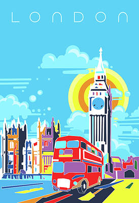 London Skyline Royalty-Free and Rights-Managed Images - London City Modern by Bekim M