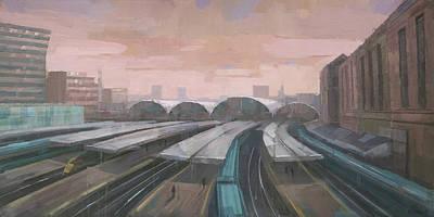 Painting - London Paddington Railway Station by Steve Mitchell