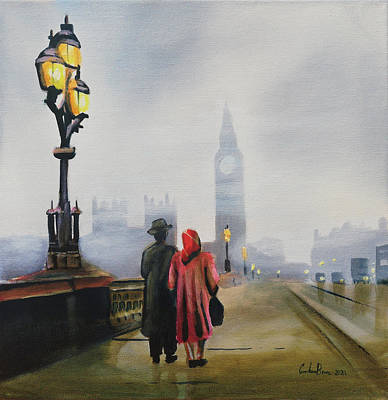 Painting - London painting by Gordon Bruce