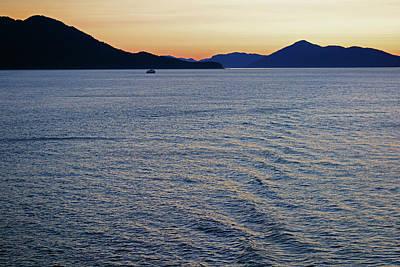 Amy Hamilton Animal Collage - Lone Boat in Glacier Bay by Connie Fox