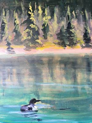 Recently Sold - Susan Elizabeth Jones Royalty-Free and Rights-Managed Images - Lone Loon by Susan Elizabeth Jones