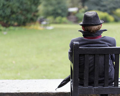 When Life Gives You Lemons - Lone man on a bench by Murray Rudd
