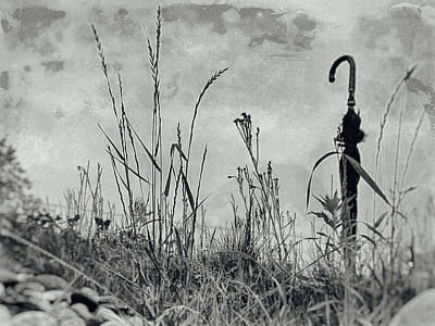 Surrealism Royalty-Free and Rights-Managed Images - Lone Umbrella 2 by Dr Dapper