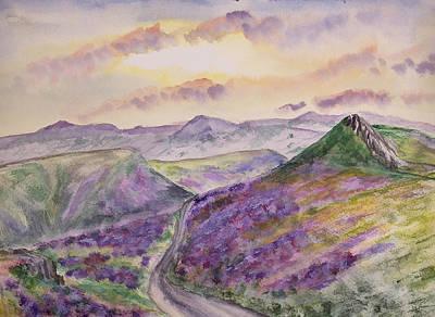 American West - LOng Mynd Heather in Bloom by Ceri Jones