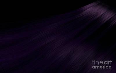 Comic Character Paintings - Long Purple Hair by Allan Swart