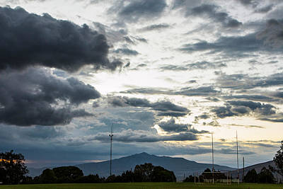 Photograph - Longonot foreboding sky by Mike Gaudaur
