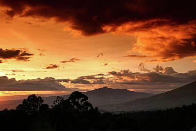 Photograph - Longonot Sunset by Mike Gaudaur