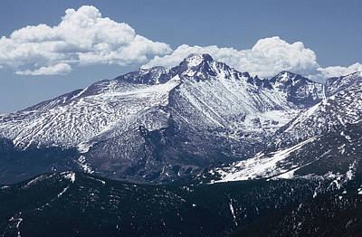 Classic Christmas Movies Royalty Free Images - Longs Peak Rocky Mtn NP Royalty-Free Image by Bob Neiman