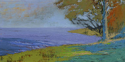 Painting - Looking Down River by Aaron Bowles