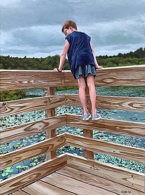 Painting - Looking For Turtles by Lissa Banks
