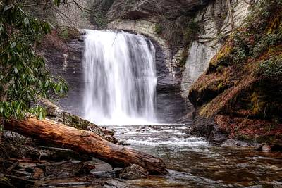 All Black On Trend - Looking Glass Falls North Carolina  Before the Rains by Carol Montoya