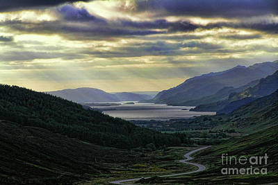 Photograph - Looking West To Loch Maree A by Dave Harnetty