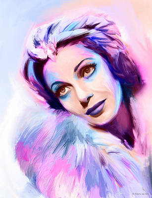 Royalty-Free and Rights-Managed Images - Loretta Young portrait by Stars on Art
