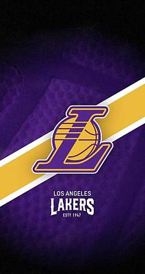 Sports Royalty-Free and Rights-Managed Images - Los Angeles Lakers EST 1947  by Michael Stout