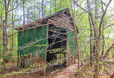 Typographic World - Lost in the Woods - Tobacco Barn in North Carolina by Bob Decker