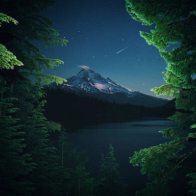 Photograph - Lost Lake at Night by Lance Reis
