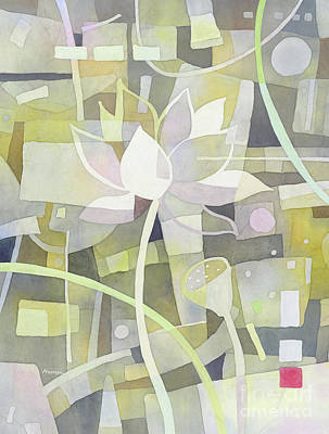 Urban Abstracts - Lotus Dream 1-pastel colors by Hailey E Herrera