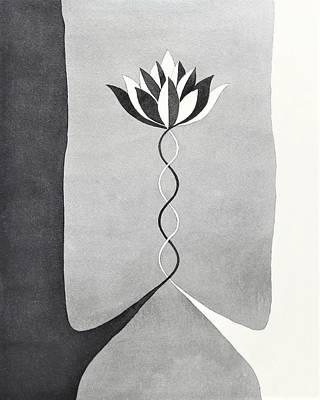 Painting - Lotus Flower Painting by Ezartesa Art