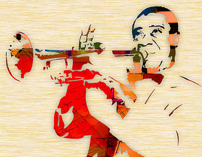 Mixed Media - Louis Armstrong Jazz by Marvin Blaine