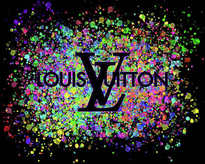 Graduation Hats - Louis Vuitton Color Splatter by Ricky Barnard