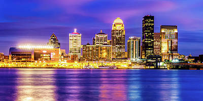 Royalty-Free and Rights-Managed Images - Louisville Kentucky Skyline Panorama and Ohio River by Gregory Ballos