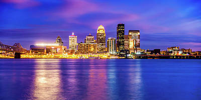 Royalty-Free and Rights-Managed Images - Louisville Kentucky Skyline Panorama On the Ohio River by Gregory Ballos