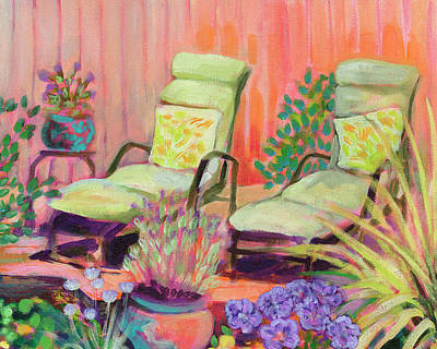 Royalty-Free and Rights-Managed Images - Lounge Chairs for Two by Jennifer Lommers