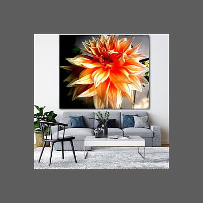 Thomas Kinkade Rights Managed Images - Love Flowers-22538a Royalty-Free Image by Baljit Chadha