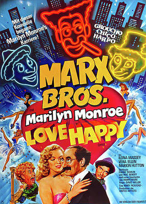 Royalty-Free and Rights-Managed Images - Love Happy 2, with Marilyn Monroe and the Marx Brothers, 1949 by Stars on Art