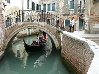 Photograph - Love in a Venice Gondola by Jo Johnson