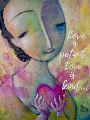 Mixed Media - Love Is Patient by Eleatta Diver