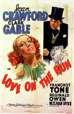 Mixed Media Royalty Free Images - Love on the Run movie poster 1936 Royalty-Free Image by Stars on Art