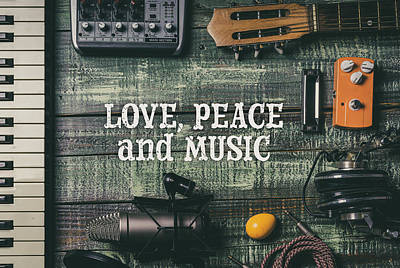 Photograph - Love Peace And Music by Giuseppe Lombardo