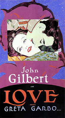 Mixed Media Royalty Free Images - Love, with John Gilbert and Greta Garbo, 1927 Royalty-Free Image by Stars on Art