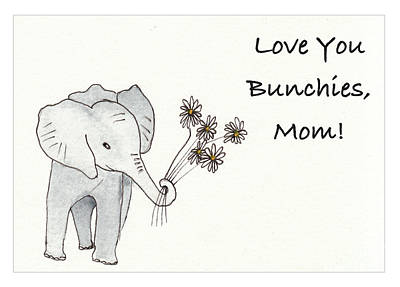 Rights Managed Images - Love You Bunchies Mothers Day Royalty-Free Image by Conni Schaftenaar